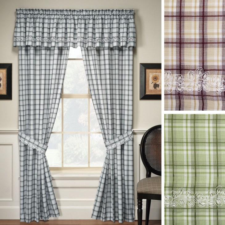 Plaid Curtains Window Treatments