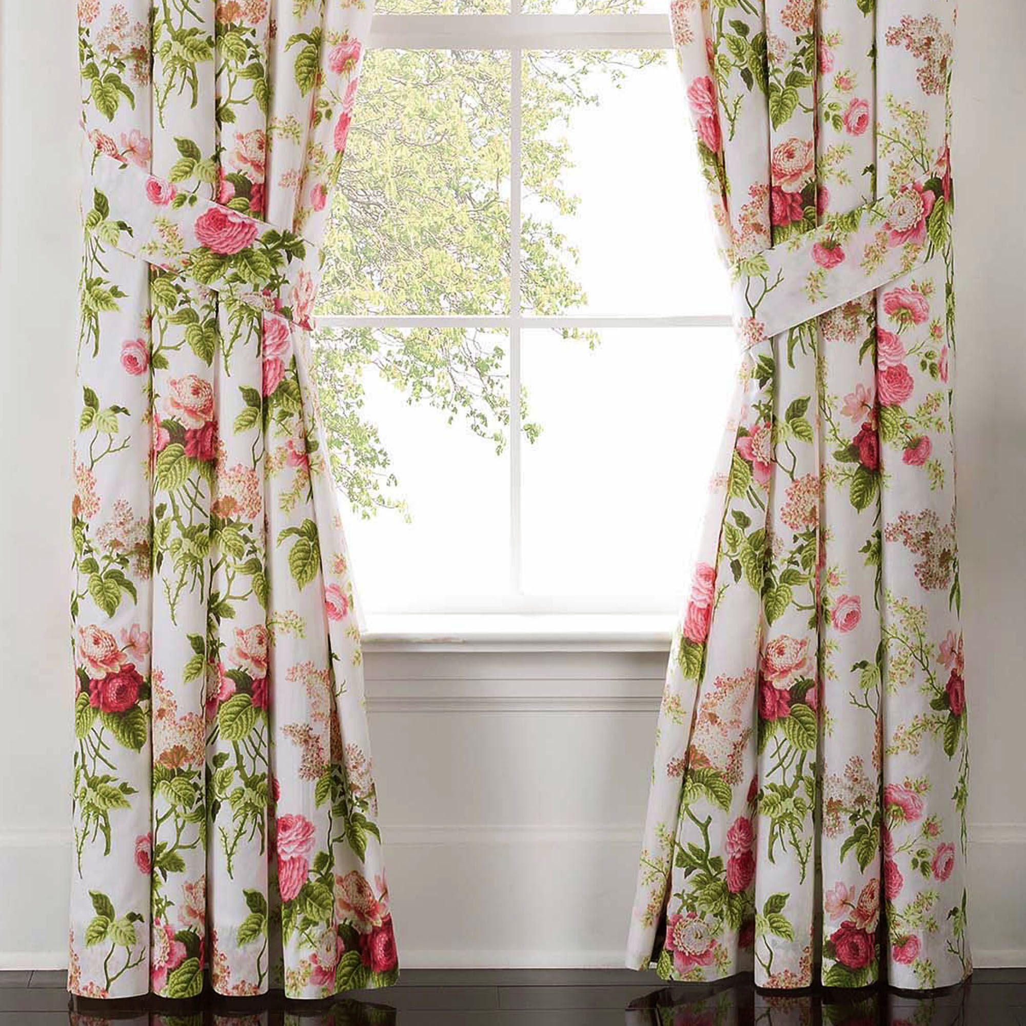 Emmas Garden Floral Window Treatment by Waverly