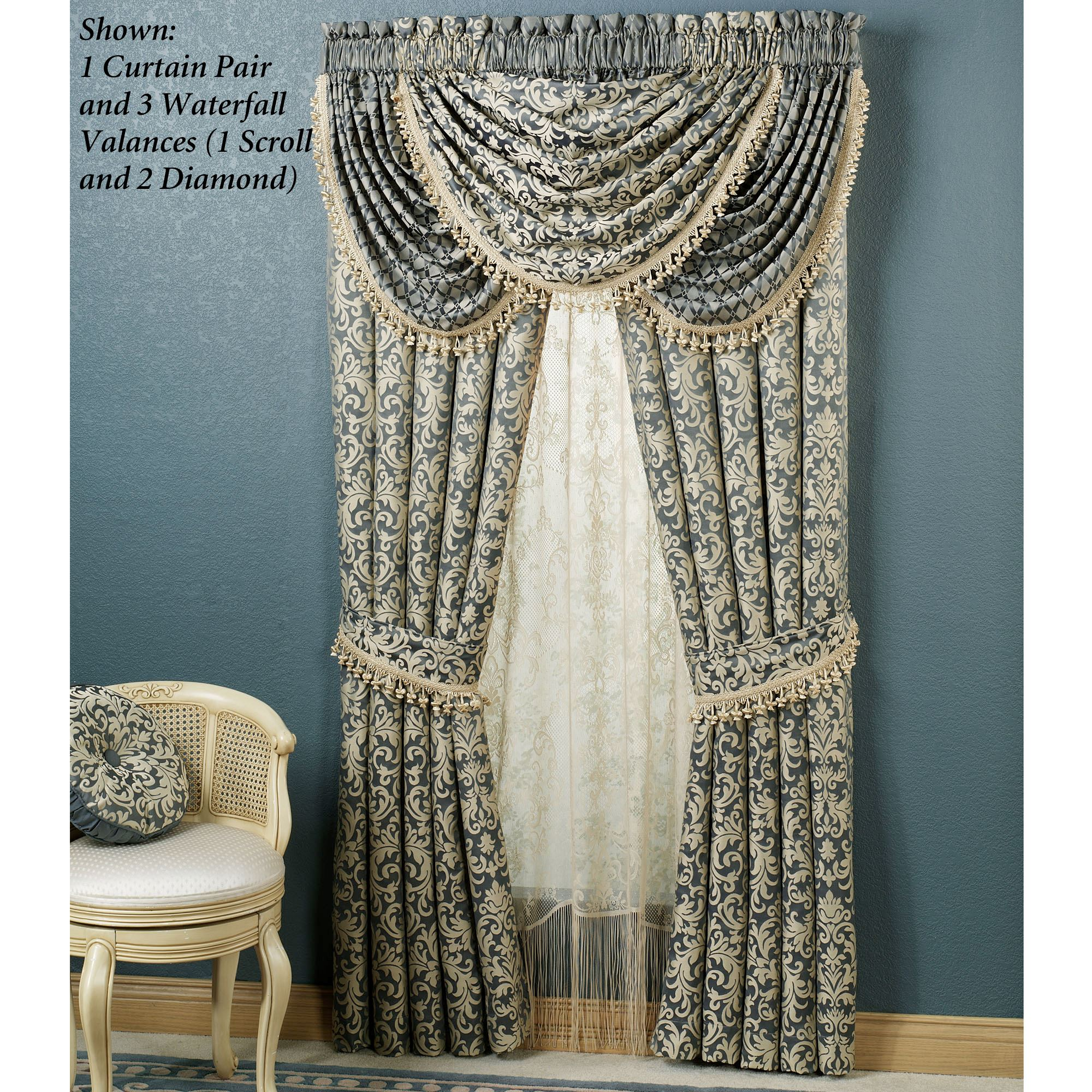 Sterling Waterfall Valances