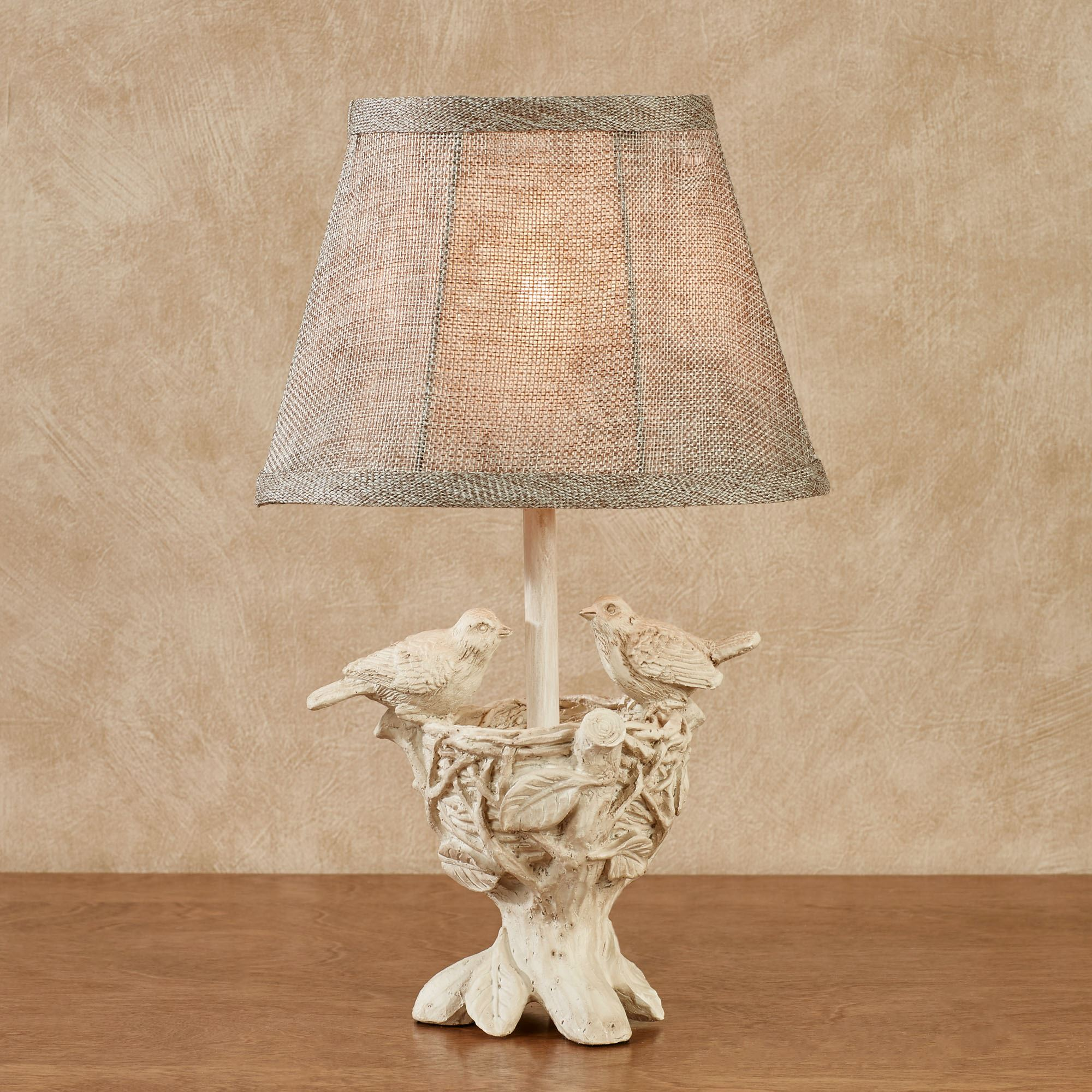 Watching Over the Young Bird Nest Small Accent Lamp