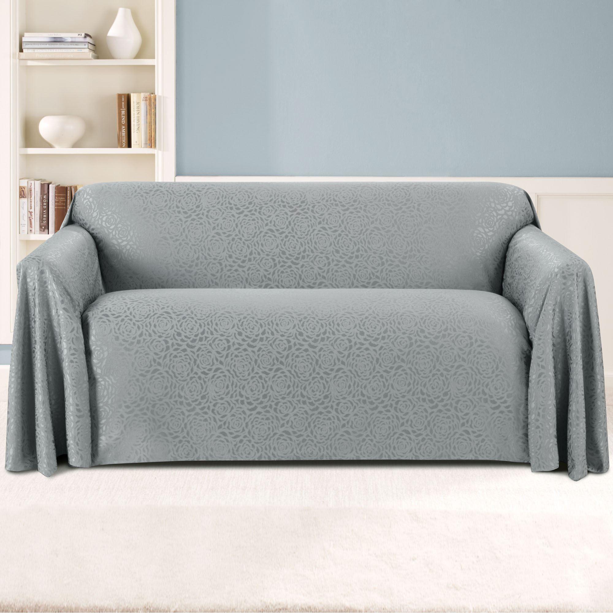 rose sofa slipcover corinthian reclining reviews rosanna jacquard drapable furniture covers