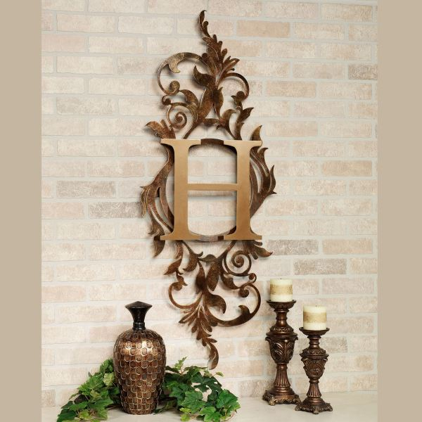 Meglynn Monogram Vertical Metal Wall Art Sign