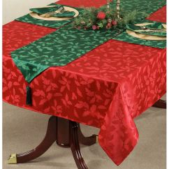 Lenox Christmas Chair Covers Folding Adirondack Design Holly Damask Holiday Table Linens Touch To Zoom