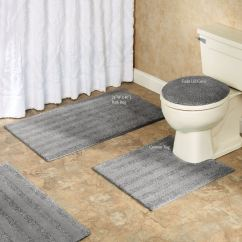Non Skid Kitchen Rugs Cheap Backsplash Tile Comforel Toilet Lid Covers Or Striped Bath