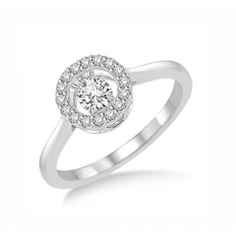 Circular Shape Dancing Diamond Ring