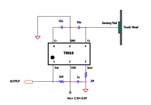 tsm12 12ch capacitive touch sensor with i2c
