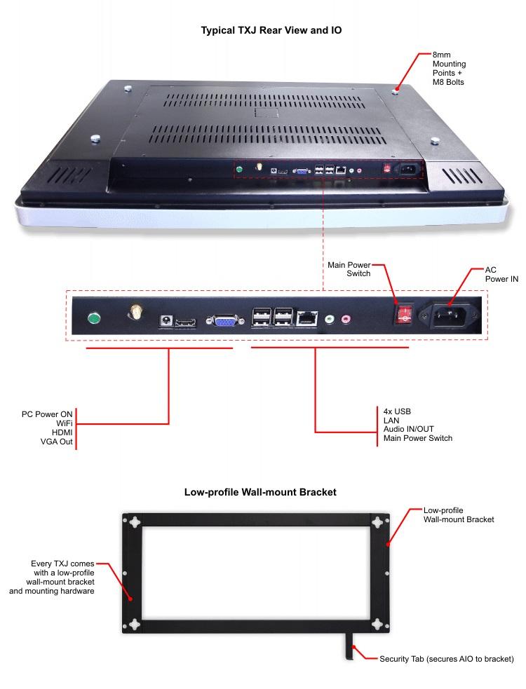 32 Inch TXJ Series AllInOne Touch Screen Computer for