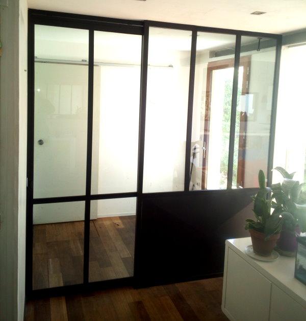 verriere avec porte coulissante excellent verrire avec porte coulissante with verriere avec. Black Bedroom Furniture Sets. Home Design Ideas