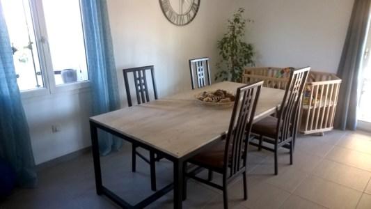 TOUFER METAL - Création de table de salle à manger de type industriel sur mesure