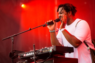 MONTREAL, QUE.: August 4, 2017-- Sampha perform during Osheaga at Parc Jean Drapeau on Friday August 4, 2017. (Tim Snow / EVENKO MANDATORY CREDIT)