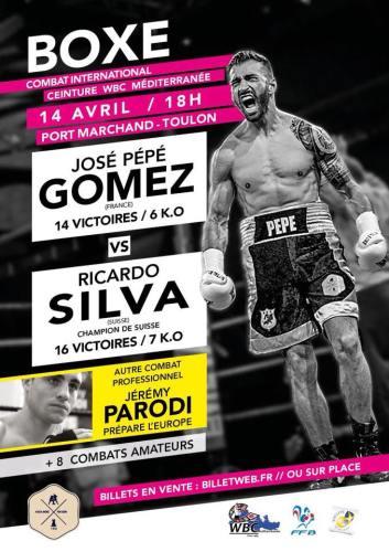 José Pépé Gomez vs Ricardo Silva Gala de Boxe International - Titre IBF International Port Marchand Toulon
