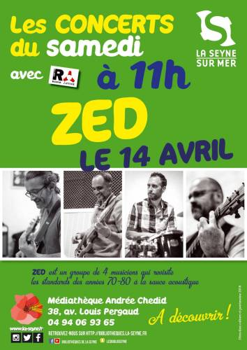 CONCERT ZED MEDIATHEQUE ANDREE CHEDID