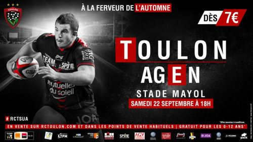 RUGBY RCT AGEN AU SATDE MAYOL A TOULON