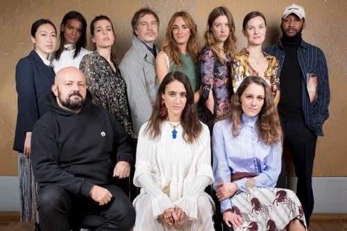 FESTIVAL INTERNATIONAL DE MODE A HYERES Natacha Ramsay-Levi, entourée du jury mode