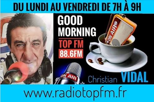 CHRISTIAN VIDAL RADIO TOP FM BANDOL 88.6 FM