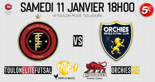 Toulon Elite Futsal rencontre Orchies PFC