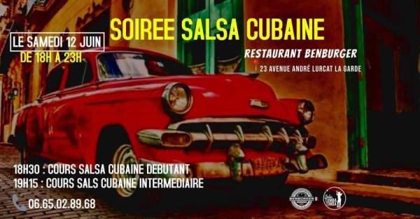 12 JUIN SOIREE SALSA CUBAINE AU RESTAURANT BENBURGER A LA GARDE