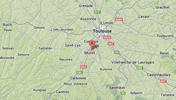 Un commando anti OGM a procédé à une série d'arrachages sur une parcelle située à Saubens au Sud de Toulouse Photo (c) Google Maps