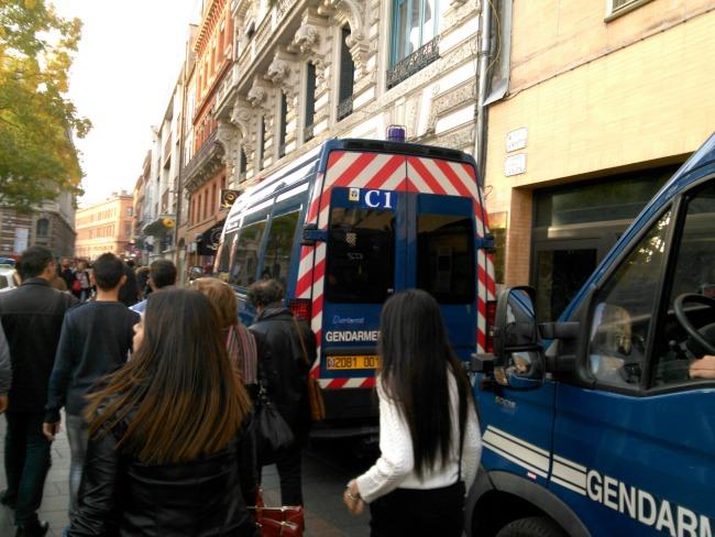 manifestation interdite arnaud bernard Toulouse