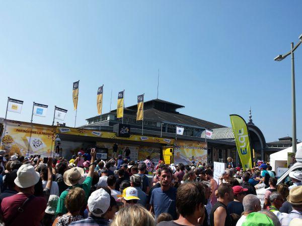 podium départ Tour de France