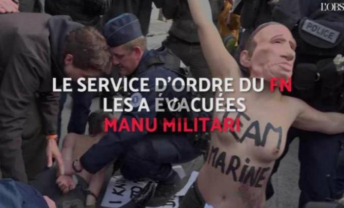 Vidéo. Un photographe et des Femen interpellés à Hénin-Beaumont