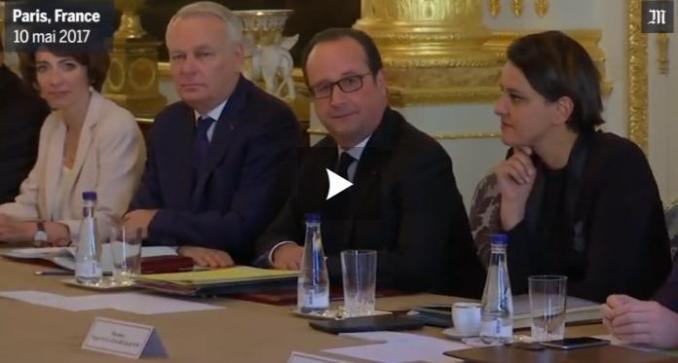 Dernier Conseil des ministres présidé par François Hollande