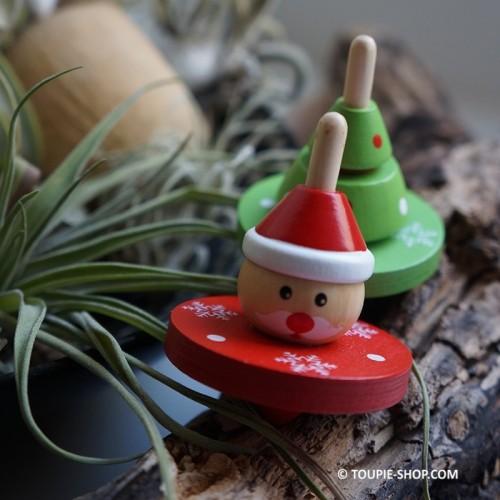 toupie de noel cadeau enfant jeux en bois