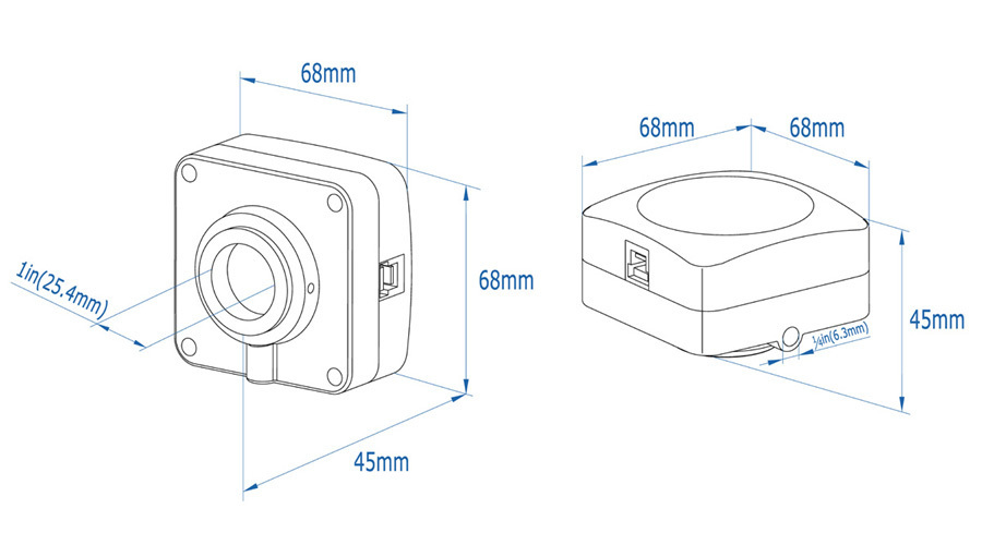 U3CMOS Series USB3.0 CMOS, C-Mount, ToupCam Camera Series