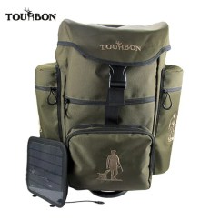 Fishing Chair Rucksack Steel Manufacturers In Bangalore China Tourbon Outdoor Solar Charger Hunting Backapck Durable Nylon With Plenty Pockets