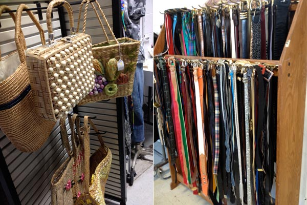 vintage purses and belts