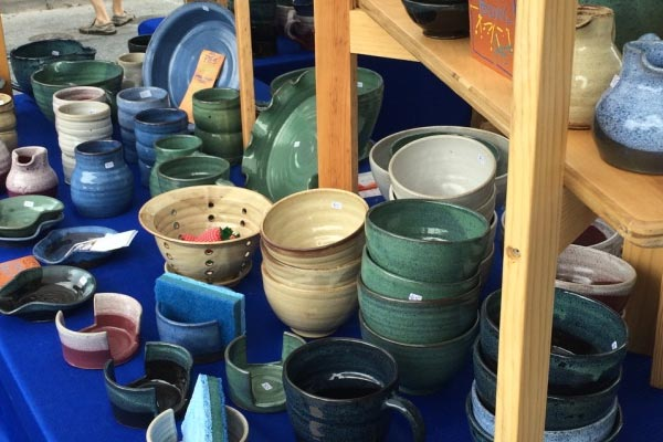 pottery for sale at HBG Flea