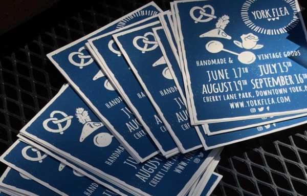 York Flea postcards