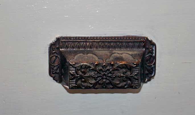 vintage detailed metal drawer pull