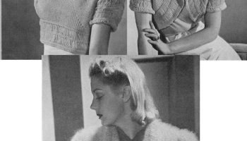 Vintage Spring Sweater And Handbag Pattern Pdf Tour De Thrift