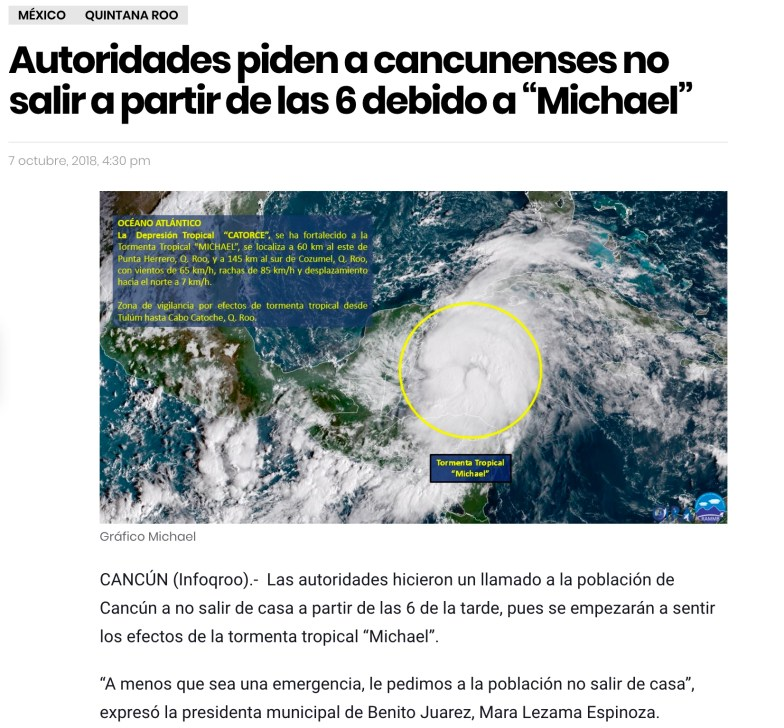 Mexique - Tormenta Michael
