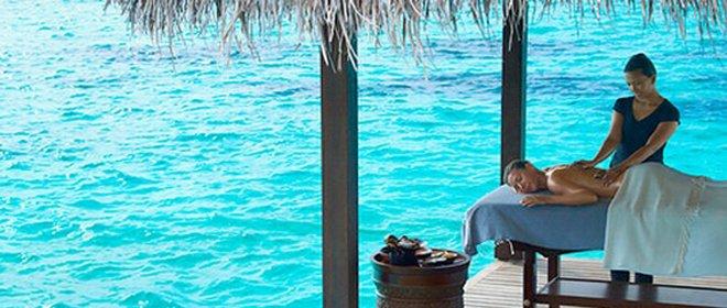 Massage mit Meeresrauschen