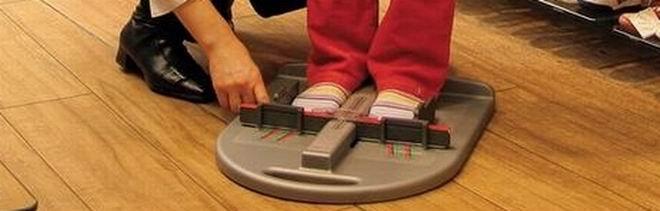 Meßeinheit für richtige Schuhgröße