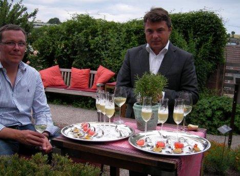 Empfang mit Hotelchef Edelbert Lösch