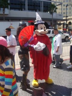 Mickey Mouse auf dem Walk of Fame in Los Angeles