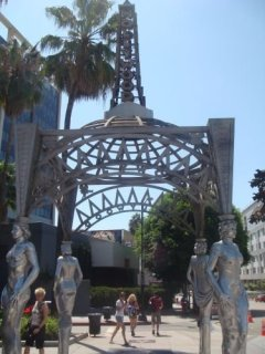 Der Anfang vom Hollywood Walk of Fame in Los Angeles