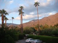 Hotelparkplatz in Royal Sun Inn / Palm Springs