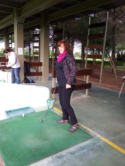 Gloria Golf Club - Gabi beim Schnuppergolf