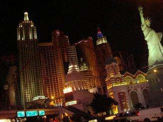 New York Hotel auf dem Las Vegas Strip