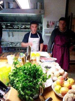 9 Kochkurs mit Udo Gündel links