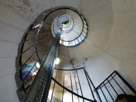 Aufstieg im Leuchtturm