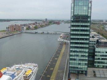 Amsterdam, Blick aus Mövenpick Hotel 4