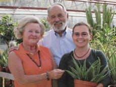 Die Familie Beisel, die das Kakteenland Steinfeld und das Deutsche Aloe Zentrum in Steinfeld betreibt