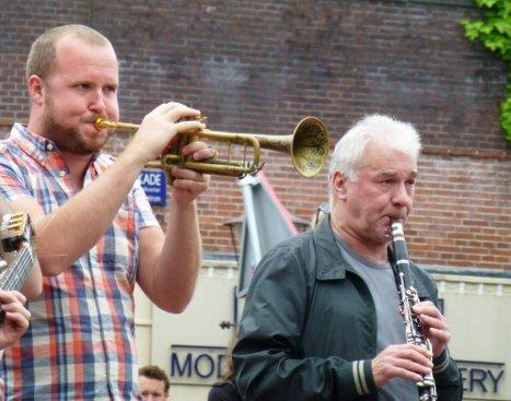 Straßenmusikanten in Amsterdam