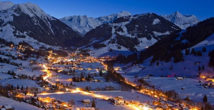 Gstaad bei Nacht