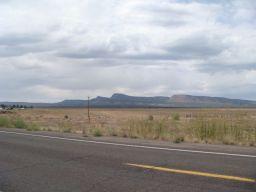 Eine einsame Straße in Arizona.
